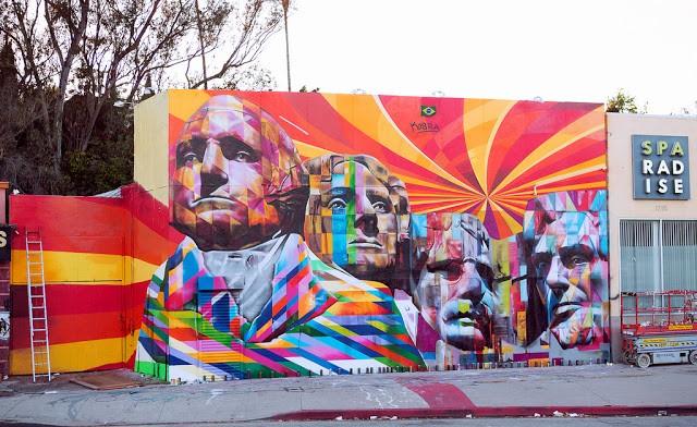 Eduardo Kobra New Mural In Los Angeles Streetartnews