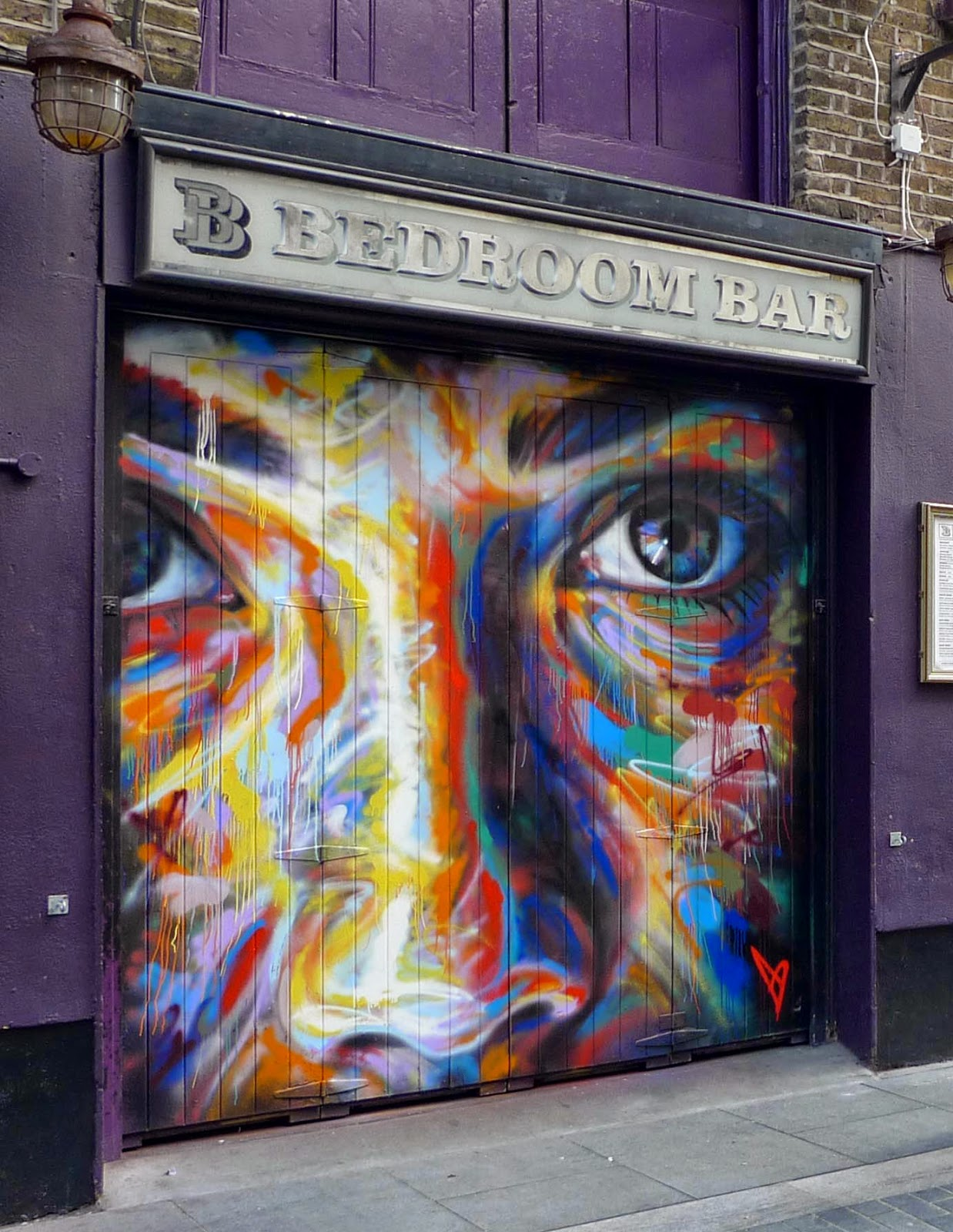 Shoreditch Street Art: David Walker New Mural