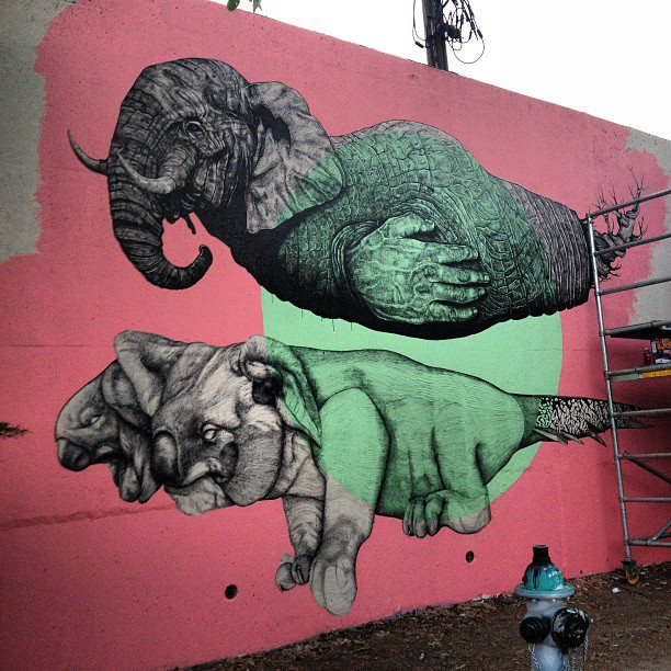 La pandilla new mural in atlanta streetartnews for Atlanta mural artist