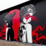 "Fin Dac and Eelus collaborates on ""Dark Angel, Deadly Dragon"" in West London, UK"