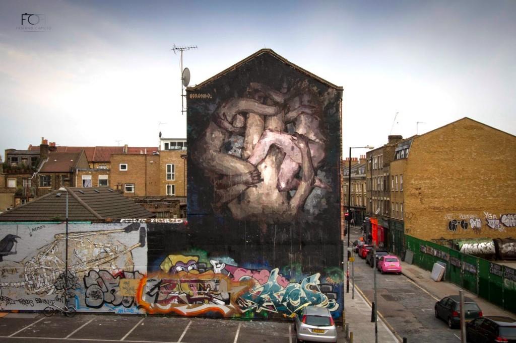 """Borondo """"Triade"""" New Mural – Shoreditch, London"""