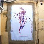 Deih paints a new piece on Cañete Street in Valencia, Spain