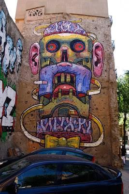 Aryz New Mural In Tarragona, Spain