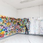 Martin Whatson creates an indoor installation in Rome, Italy