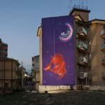 Natalia Rak unveils a new mural in Ragusa, Italy for FestiWall
