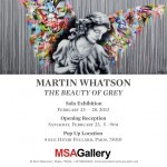 "Martin Whatson ""The Beauty Of Grey"" Paris Solo Show, February 23rd"