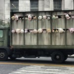 "Banksy ""Siren Of The Lambs"" New Truck Installation For ""Better Out Than In"" – Meatpacking District, New York City"