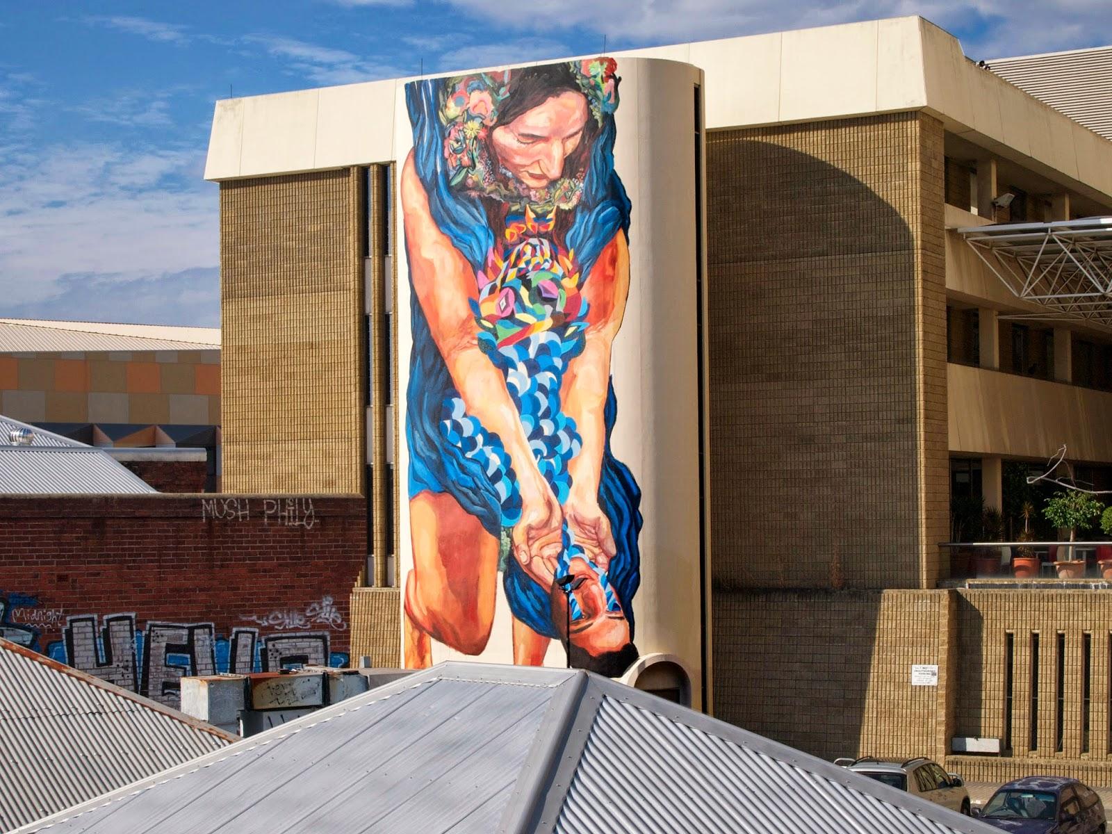 """Ever """"Migration"""" New Mural For Public Festival - Perth, Australia"""