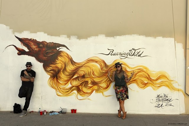 Miss Van x Dan Quintana New Mural In Los Angeles, USA