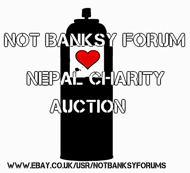"NotBanksyForum organize the ""Nepal Street Art Charity Auction"""