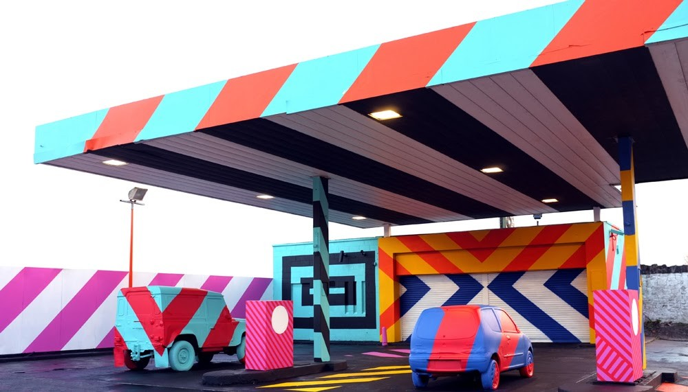 "Maser ""No.27 – A Nod To Ed Ruscha"" New Street Installation – Limerick City, Ireland"