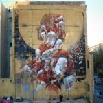 "Borondo creates ""Fer Lenya"", a new mural in Barcelona, Spain"