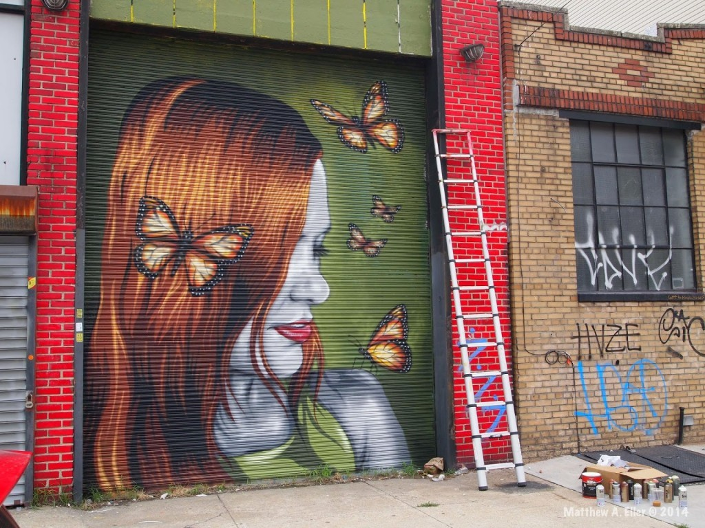 "Mr. Prvrt – ""Butterfly Effect"" – Bushwick Collective – Brooklyn, NYC"