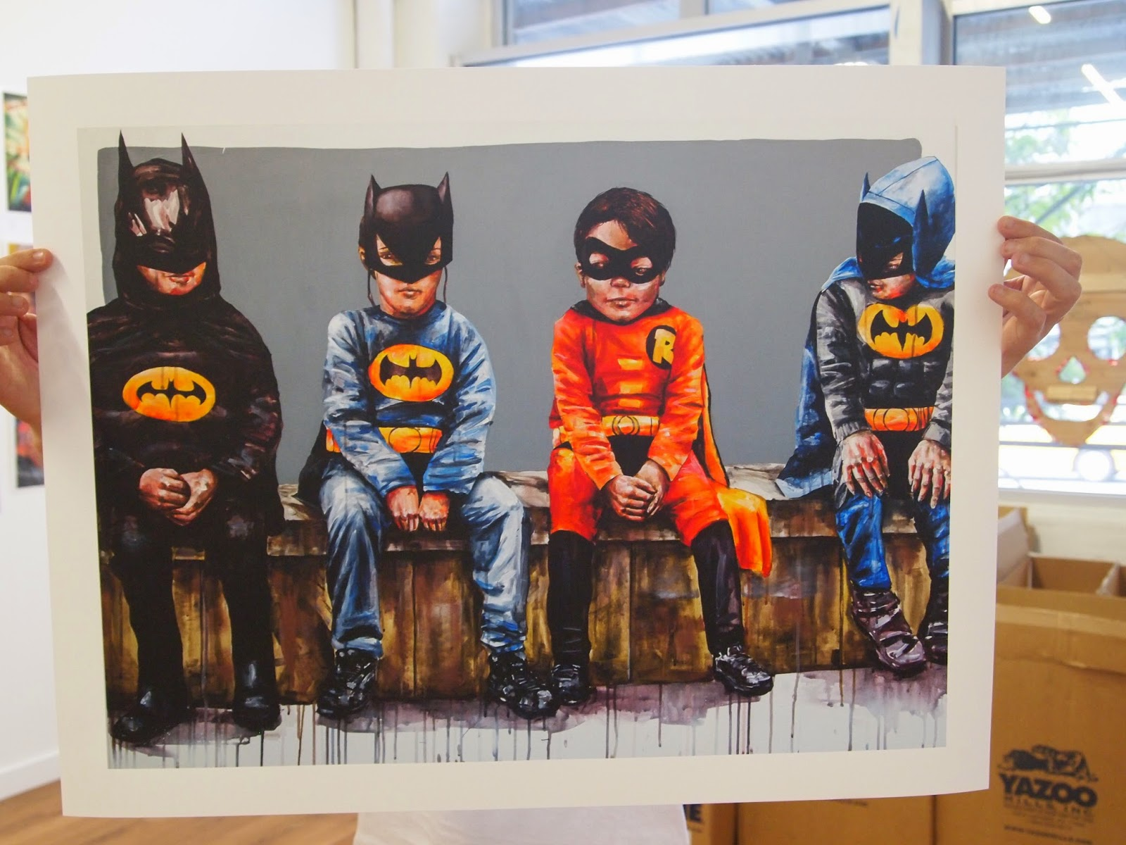 """Fintan Magee - """"3 Bats and a Bird"""" Print Release - Under The Bridge Gallery Brooklyn, NYC"""