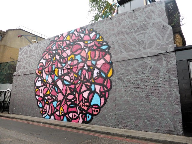 eL Seed creates a brand new mural in Shoreditch, London