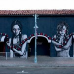 "Fin DAC x Angelina Christina ""The Mountain Charmers"" New Street Art – Palm Springs, USA"