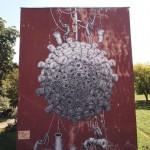 Phlegm New Mural In Kosice, Slovakia
