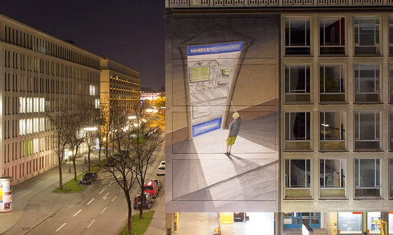 Blu creates a new mural in Munich, Germany for Positive Propaganda