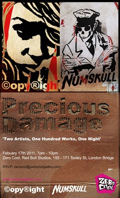 Copyright x Numskull 'Precious Waste' Show 17th February London