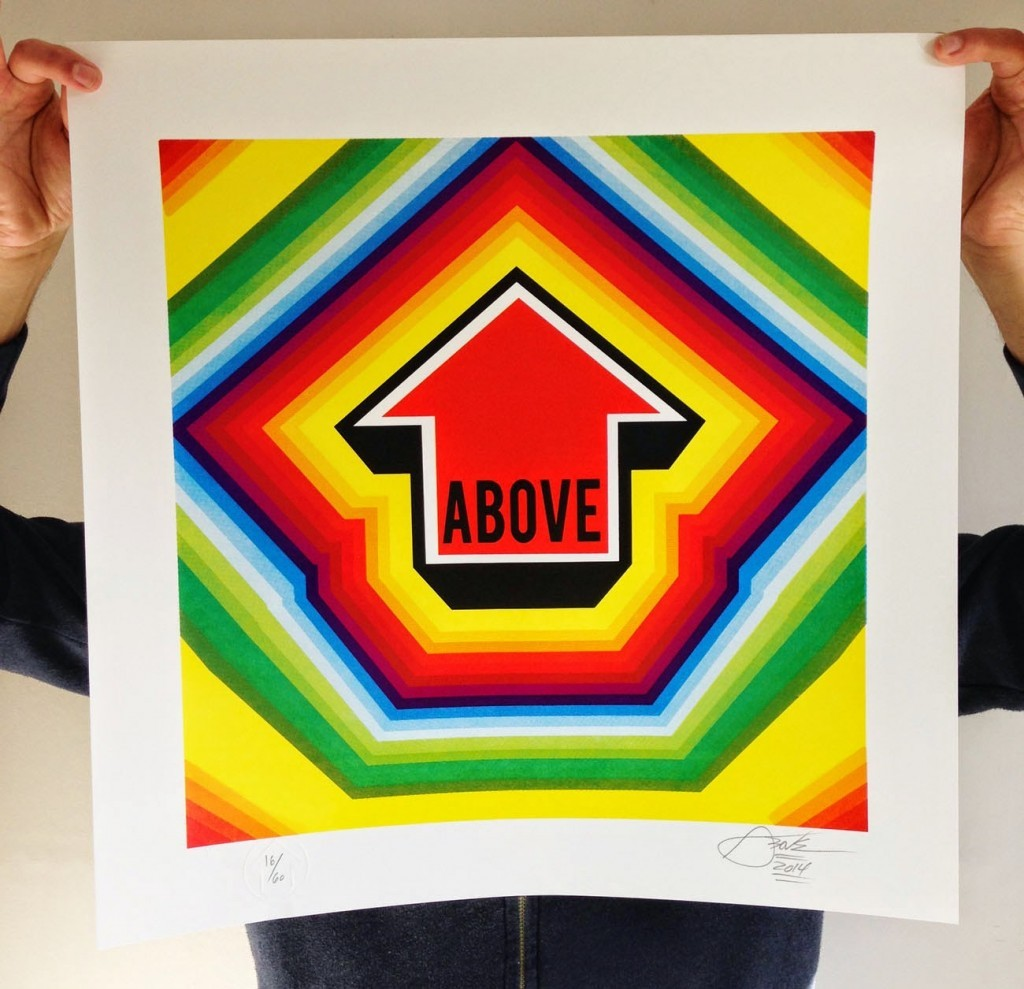 "ABOVE ""Arrow Pulse"" Limited Edition Print"