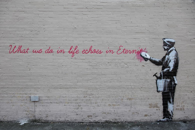 """Banksy """"Eternity"""" New Street Piece For """"Better Out Than In"""" - Queens"""