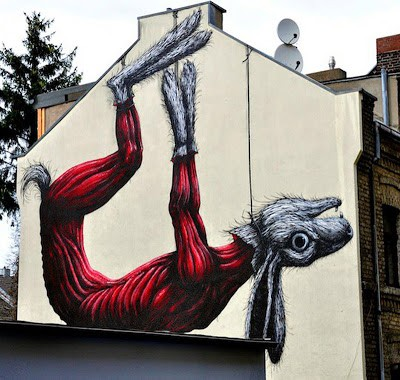 Roa New Mural In Cologne, Germany
