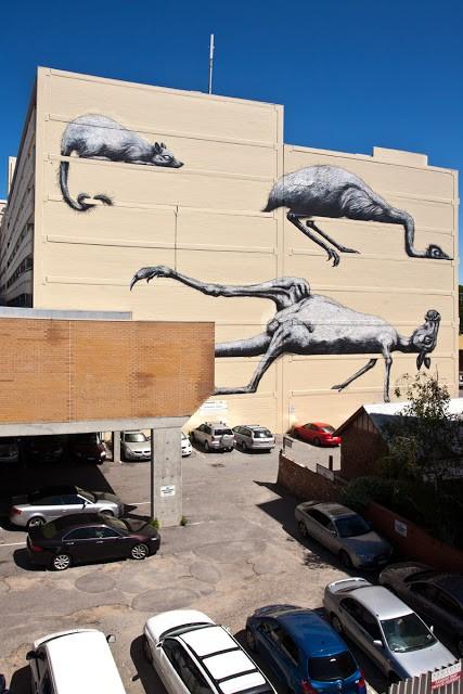Roa New Mural In Perth, Australia