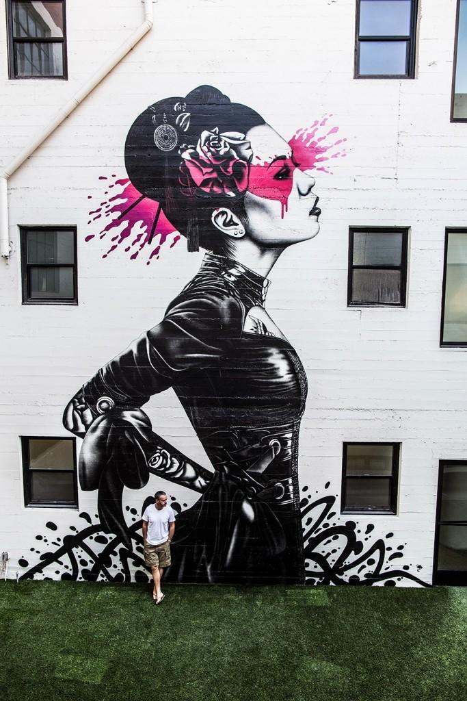 """Fin DAC """"Nadeshiko"""" New Mural – Los Angeles, USA"""