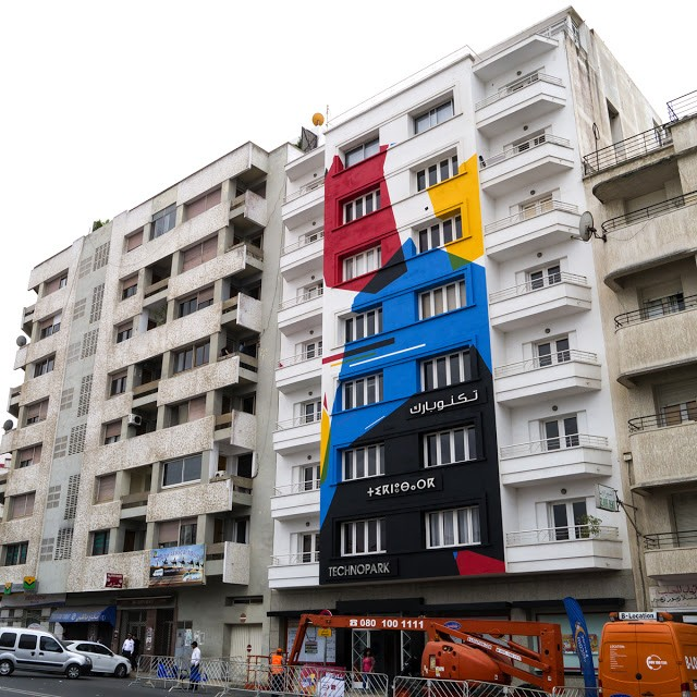 Remi Rough creates a new mural in Rabat, Morocco