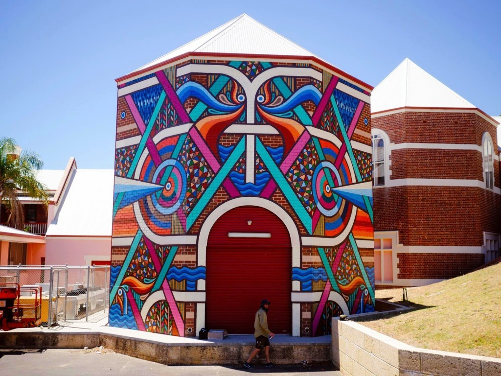 Beastman creates a new mural for Re.Discover in Bunbury, Australia
