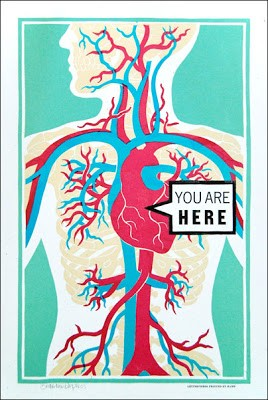 """You Are Here"" New Print by Roll and Tumble Press Now Available"