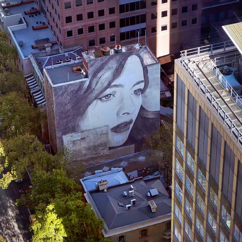 """RONE """"L'Inconnue De La Rue"""" New Mural – Melbourne, Australia"""