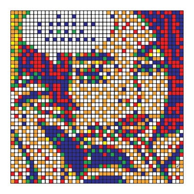 "Invader ""Rubik Masterpiece Lichtenstein"" New Print Available Soon"