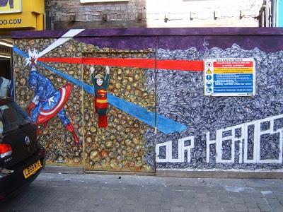 Nathan Bowen New Mural In Brick Lane, London