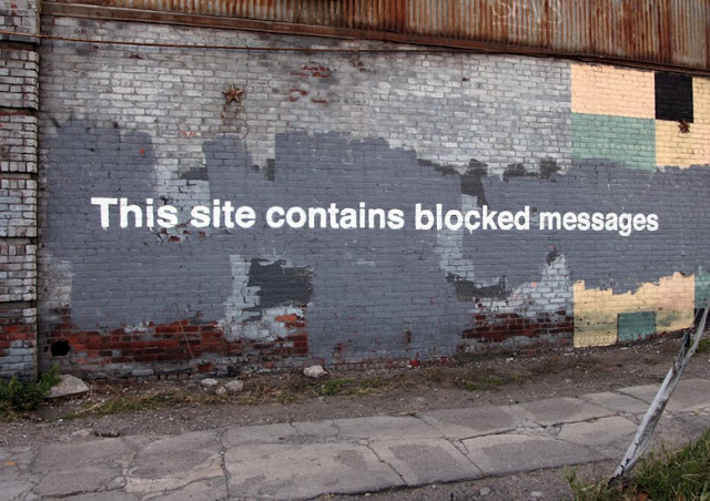 "Banksy ""This Site Contains Blocked Messages"" New Piece – Greenpoint"