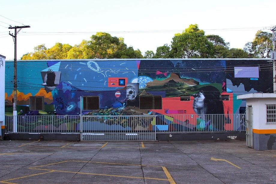 Thiago Toes x William Mophos x Guilherme Augusto Gafi New Mural – Sao Paulo