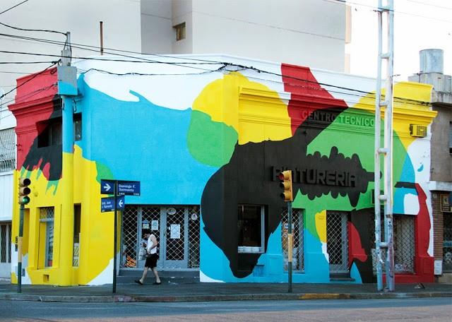 """Elian """"Saturated Corner"""" New Mural – Cordoba, Argentina"""