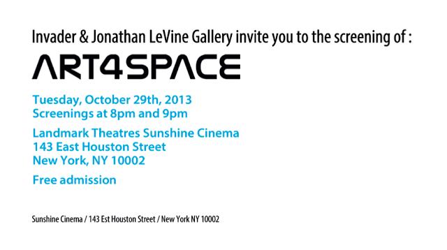 "Invader ""Art4Space"" Screening @ Sunshine Cinema – New York City"