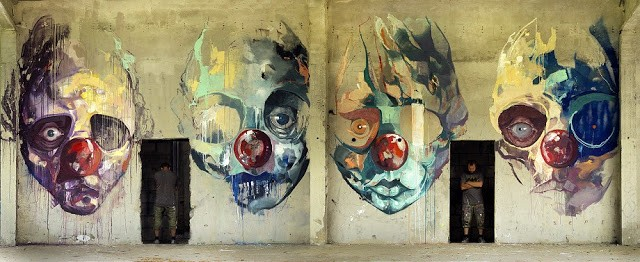 Sepe paints a new portraiture quadriptych in Warsaw, Poland