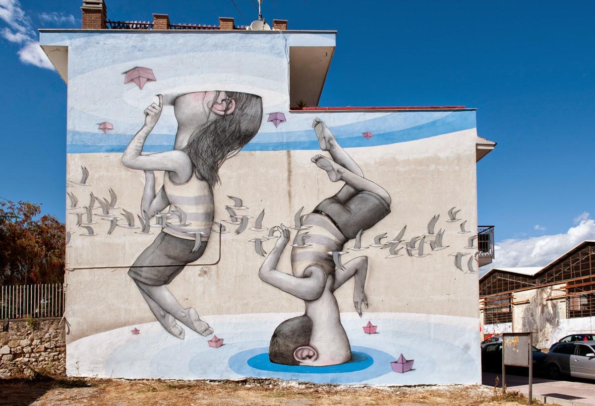 Seth New Mural For Memorie Urbane - Gaeta, Italy