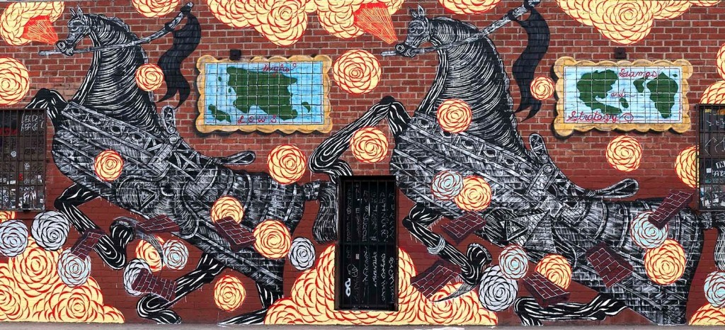 """Andrew Schoultz """"Imperial"""" New Mural – Los Angeles, USA"""