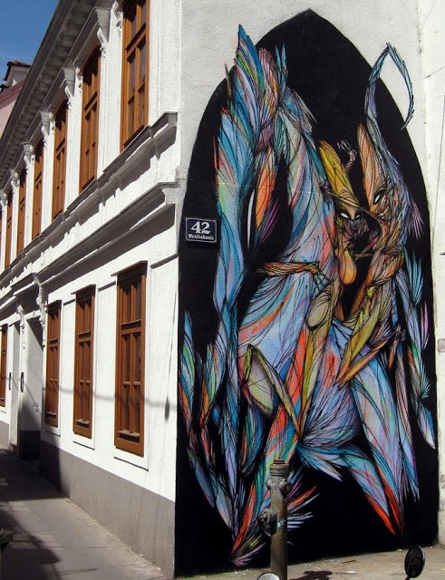 Shida New Mural In Vienna, Austria