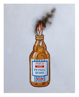 "Banksy ""Tesco Value Petrol Bomb"" Poster Available 7th May"