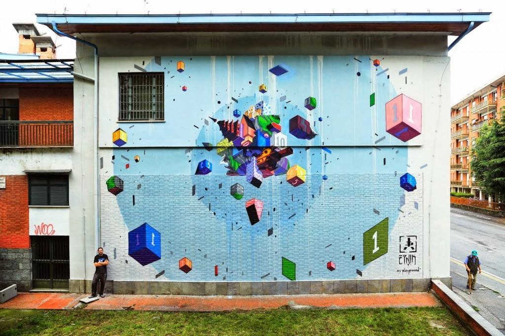 Etnik New Mural – Pinerolo, Italy