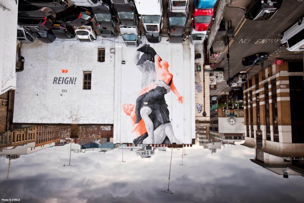 """Cyrcle """"REIGN!"""" New Mural – London, UK"""