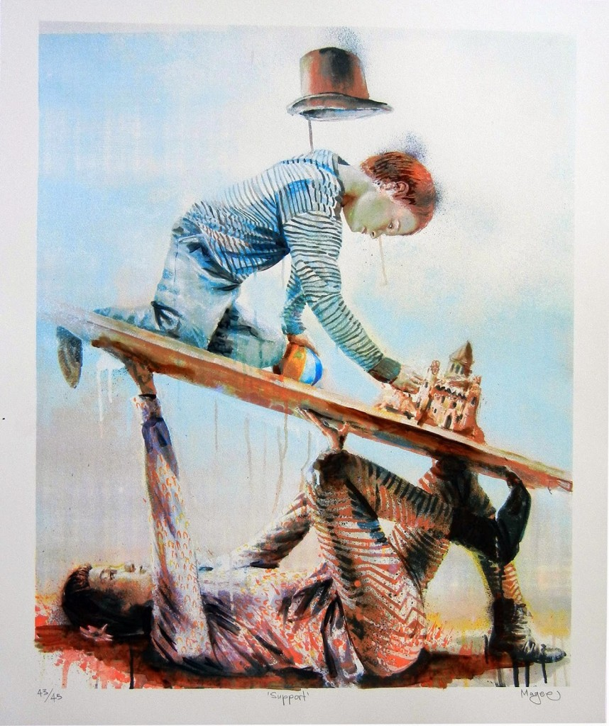 "Fintan Magee ""Support"" Limited Edition Hand-Finished Screen Print – Available March 26th"