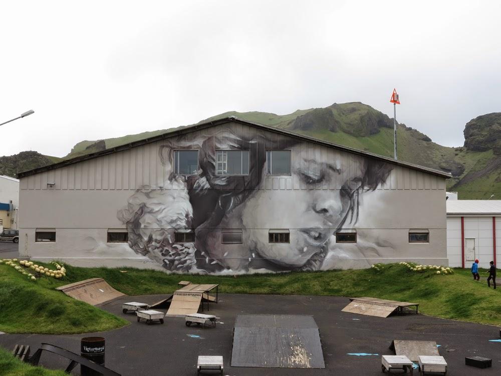 Guido Van Helten New Mural – Westman Islands, Iceland