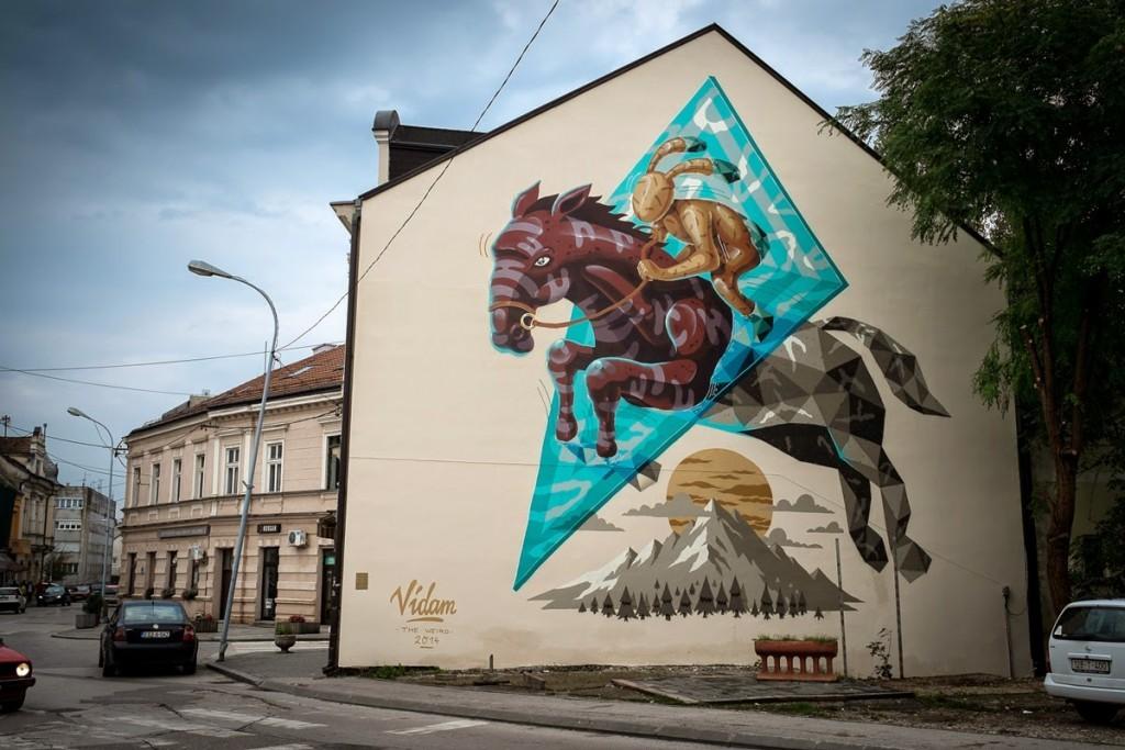 "Vidam transforms the urban landscape of Prijedor in Bosnia with ""Transformation 0.6"""