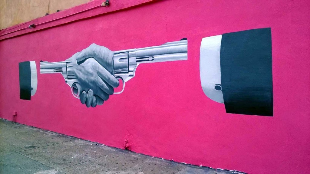 "Bikismo creates ""Handshake"", a new mural in Williamsburg, New York City"