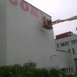 Ben Eine New Mural In Progress @ Bergen, Norway
